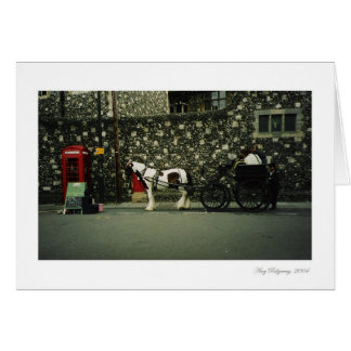 Cart Horse Card