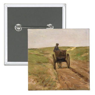 Cart in Katwijk, 1889 Button