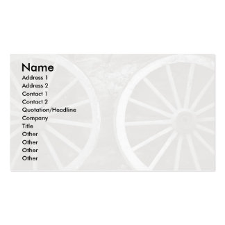 Cart wheels Double-Sided standard business cards (Pack of 100)