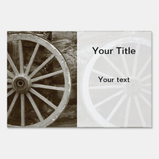 Cart wheels sign