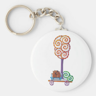 Cart with Magical Tree and Bench Key Chains