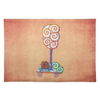 Cart with Magical Tree and Bench Place Mat