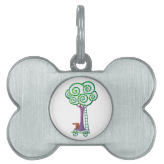Cart with Magical Tree Pet ID Tags