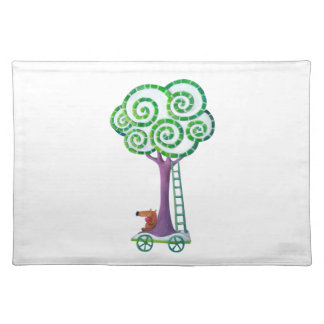 Cart with Magical Tree Placemat