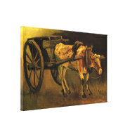Cart with Red and White Ox by Van Gogh. Gallery Wrapped Canvas