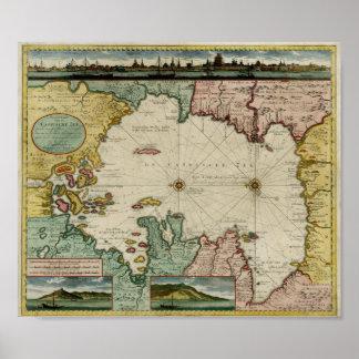 Carta 1720 del mar Caspio Impresiones