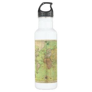 Carta 1778 de Bellin o mapa náutica del mundo Botella De Agua
