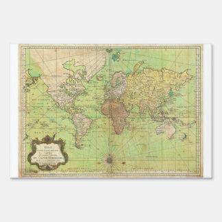 Carta 1778 de Bellin o mapa náutica del mundo Cartel