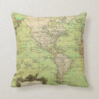 Carta 1778 de Bellin o mapa náutica del mundo Cojín Decorativo