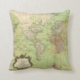 Carta 1778 de Bellin o mapa náutica del mundo Cojines