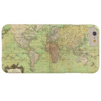 Carta 1778 de Bellin o mapa náutica del mundo Funda Barely There iPhone 6 Plus