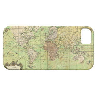 Carta 1778 de Bellin o mapa náutica del mundo iPhone 5 Carcasa