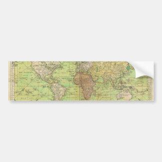 Carta 1778 de Bellin o mapa náutica del mundo Pegatina Para Auto