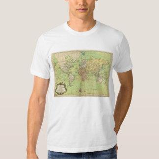 Carta 1778 de Bellin o mapa náutica del mundo Playeras
