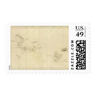 Carta amistosa de las islas franqueo