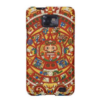 Carta antigua azteca maya de Astonomy del maya Galaxy S2 Carcasa