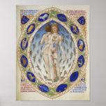 Carta astrológica imponente, arte del vintage, zod impresiones