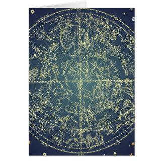 Carta celestial del espacio tarjeton