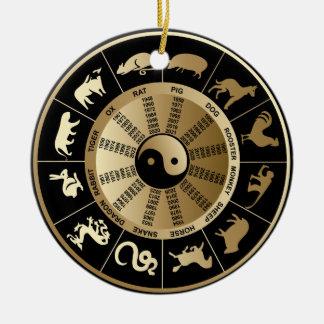Carta china del zodiaco adorno