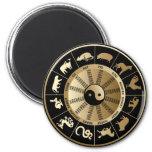 Carta china del zodiaco imán para frigorifico