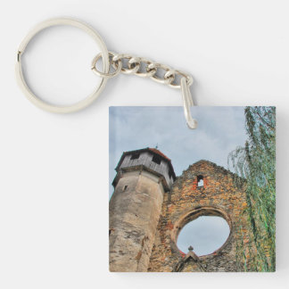 Carta cistercian church Double-Sided square acrylic keychain