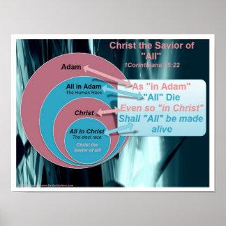 carta Cristo el salvador de todos Poster