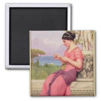 Carta de amor del Le, 1913 Imán Cuadrado