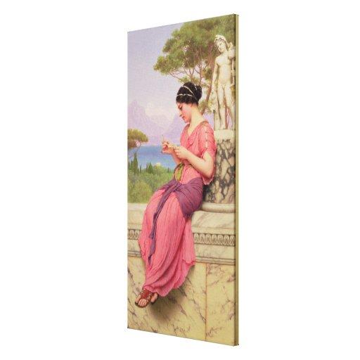 Carta de amor del Le, 1913 Lona Estirada Galerias