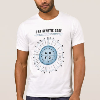 Carta de código genético de la DNA Camisetas