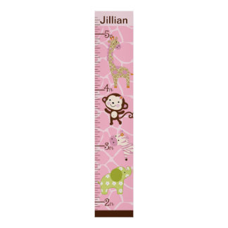 Carta de crecimiento personalizada de Jill de la s Impresiones
