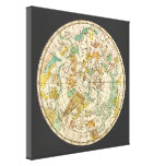 Carta de estrella del cielo y mapa meridionales de impresión en lona