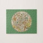 Carta de estrella del cielo y mapa septentrionales puzzle con fotos