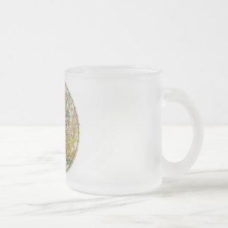 Carta de estrella del cielo y mapa septentrionales taza de café esmerilada