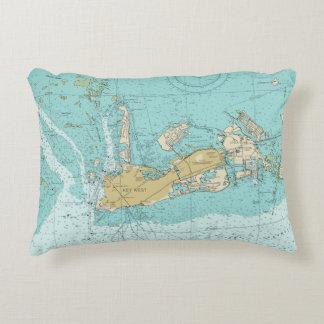 Carta de Key West y almohada náuticas de los Cojín Decorativo