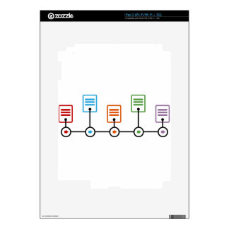 Carta de la cronología del ejercicio económico iPad 2 calcomanías