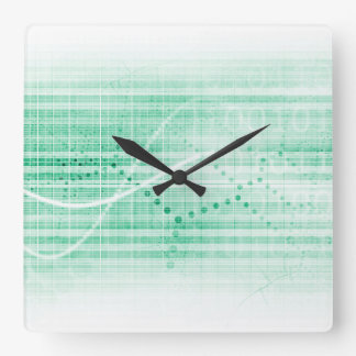 Carta de la investigación científica para el arte reloj cuadrado