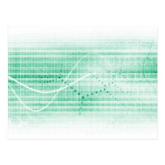 Carta de la investigación científica para el arte tarjetas postales