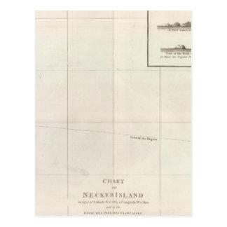 Carta de la isla de Necker Postales