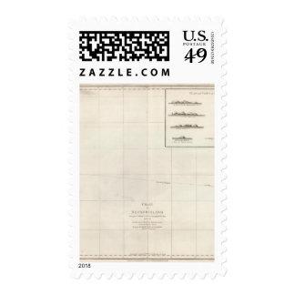 Carta de la isla de Necker Sello Postal