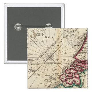 Carta de la parte de la costa de Inglaterra Pins