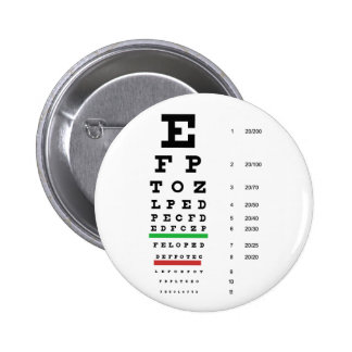 carta de la visión del ojo de Snellen para el ofta Pin Redondo 5 Cm