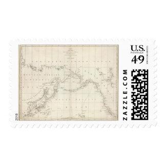Carta de las costas de América y de Asia Sellos