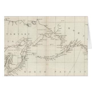 Carta de las costas de América y de Asia Tarjeta De Felicitación