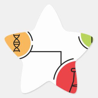 Carta de los datos de la ciencia pegatina en forma de estrella