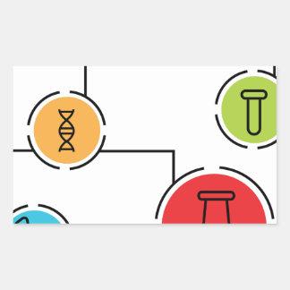 Carta de los datos de la ciencia pegatina rectangular