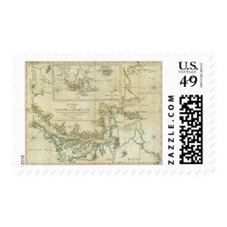 Carta de los Estrecho de Magallanes Sellos Postales