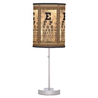 Carta de ojo de estrabismo del vintage lámpara de escritorio