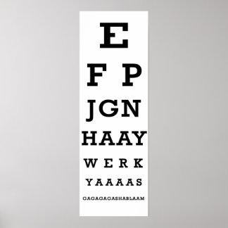 Carta de ojo de la nación de Jigg Impresiones