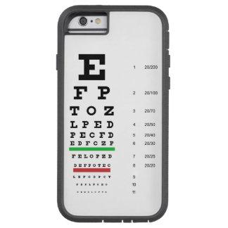 Carta de ojo de Snellen Funda Para iPhone 6 Tough Xtreme