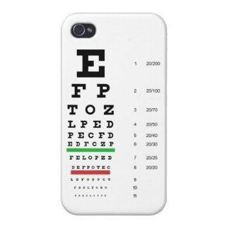 Carta de ojo de Snellen iPhone 4 Carcasas